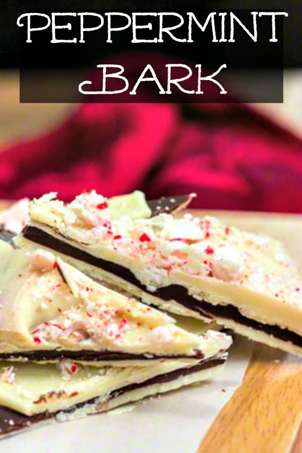 Peppermint Bark Candy #Christmas #Candy