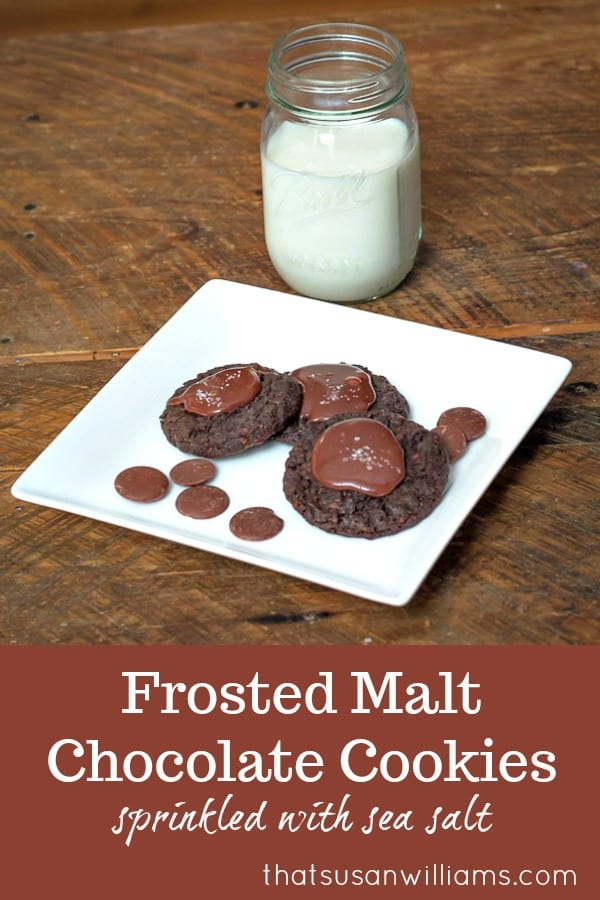 Frosted Malt Chocolate Cookies are the perfect dessert for any chocolate lover, whether it's Christmas, Valentine's Day, or a birthday dessert. #chocolate #cookies #dessert