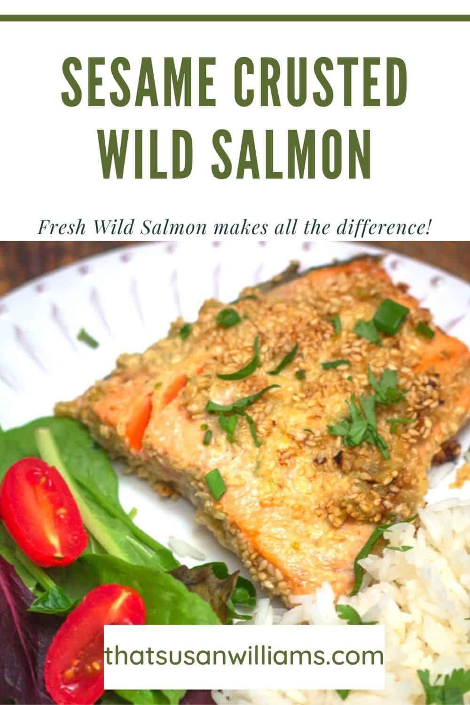 Sesame Crusted Wild Salmon