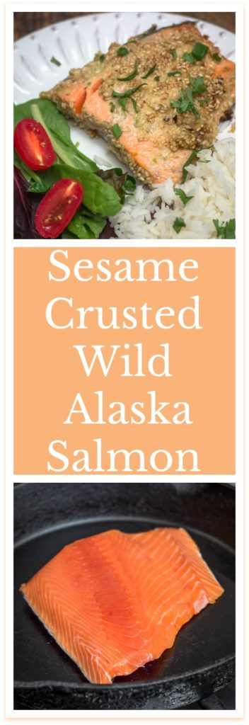 Sesame Crusted Alaska Salmon Recipe #AskForAlaska, #IC, #ad #sustainability #salmon #fish