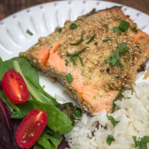 Sesame Crusted Alaska Salmon Recipe #AskForAlaska #sustainability #salmon #fish
