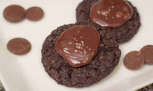Frosted Malt Chocolate Cookies with Sea Salt