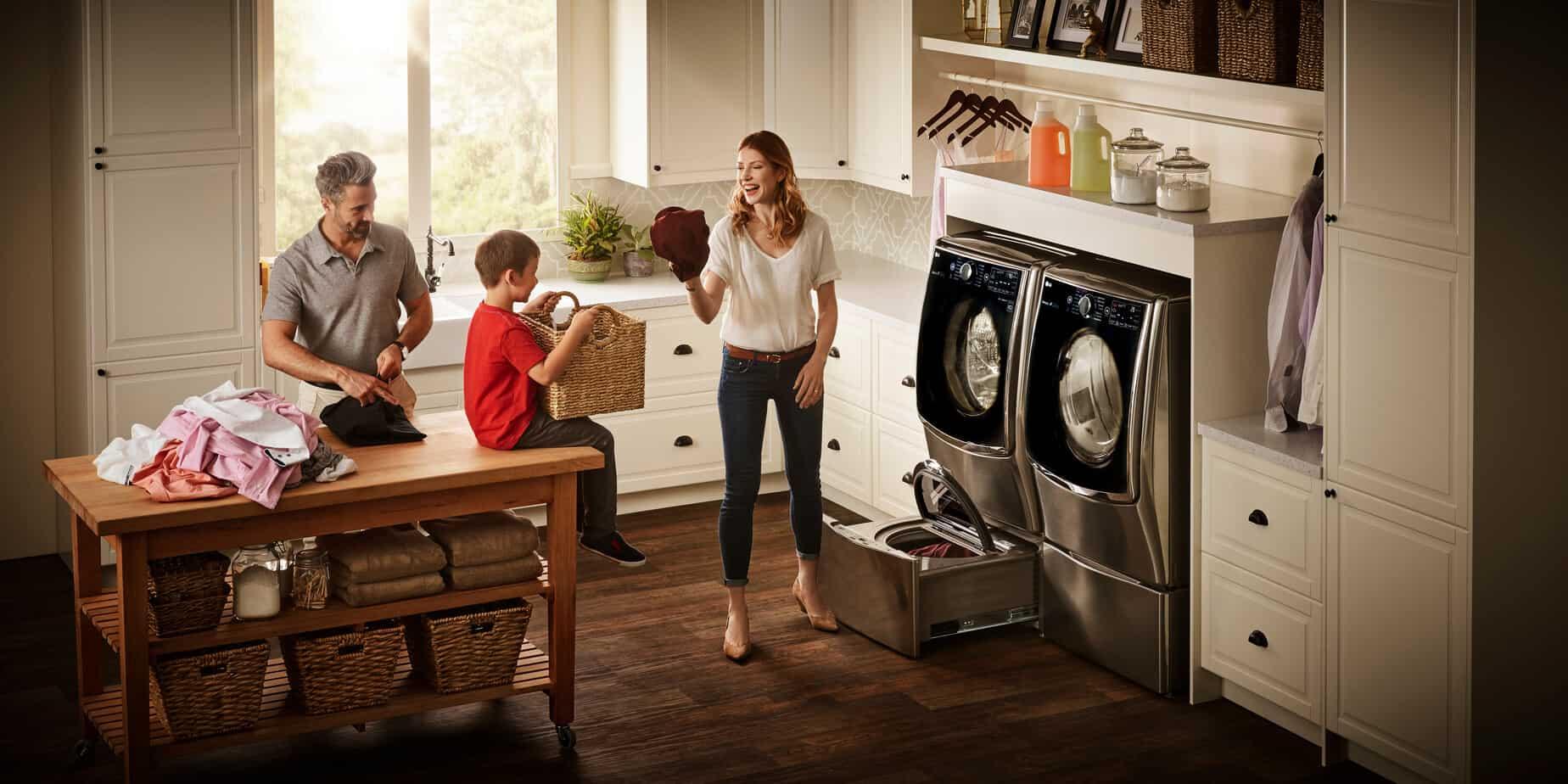LG TwinWash Laundry Family