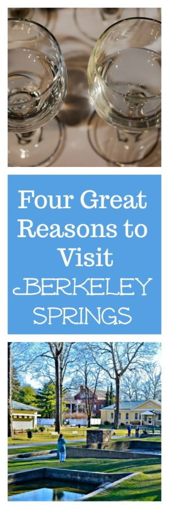Four Great Reasons to Travel to Berkeley Springs, Including the International Water Tasting #water #bottledwater #watertasting #travel #travelBerkeleySprings #travelWV #WestVirginia #BerkeleySprings