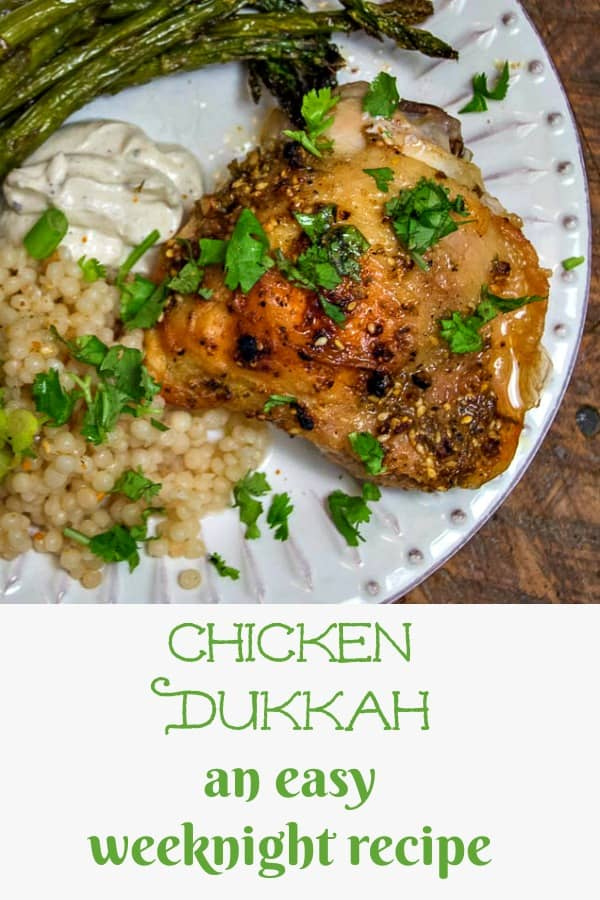 Dukkah is an Egyptian spice and nut blend, but what it does to the flavor of your weeknight chicken will astound you! This recipe for Chicken might just become your brand new family favorite! #chicken #dukkah #chickendukkah #recipe #Egyptian #weeknightrecipe #weeknightmeal
