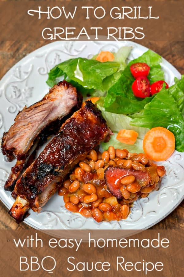How to Grill Great Ribs, with an easy homemade Barbecue Sauce #grilling #ribs #GetGrillingAmerica #ad #CollectiveBias #Walmart