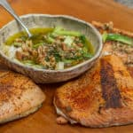 Wild Salmon with Charred Scallion Sauce
