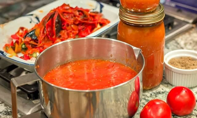 Oven Roasted Tomato Sauce #ovenroasted #easyrecipe #easyrecipes #garlic #oliveoil