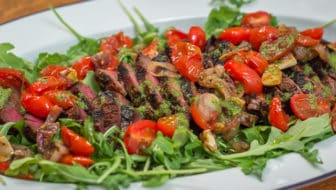 Grilled Marinated Flank Steak with Blistered Tomatoes