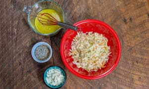 World's Best and Easiest Coleslaw with Homemade Vinaigrette