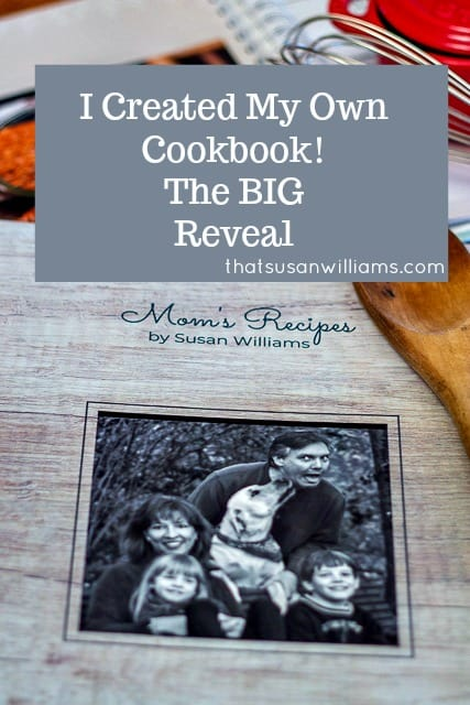 The cookbook I created with CreateMyCookbook has arrived, and here's the BIG Reveal. #createmycookbook #cookbook #write #holidaygift #giveaway @cre8mycookbook #ad