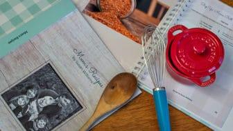 The cookbook I created with CreateMyCookbook has arrived, and here's the BIG Reveal. #createmycookbook #cookbook #write