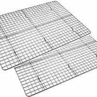 Checkered Chef Cooling Racks for Baking - Baking Rack Twin Set. Stainless Steel Oven and Dishwasher Safe Wire Cooling Rack.
