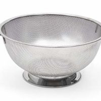 RSVP International Endurance Stainless Steel Precision Pierced Colander, 5-Quart (PUNCH-5)