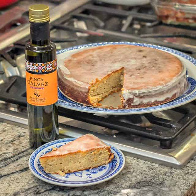 Sliced Lemon Almond Olive Oil Cake
