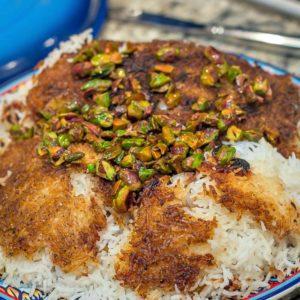Jeweled Rice (Tahdig) Iranian Recipe