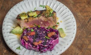 Super Simple Grilled Tuna with Avocado, Soy, Ginger, and Cilantro