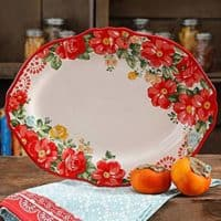The Pioneer Woman Vintage Floral Serving Platter