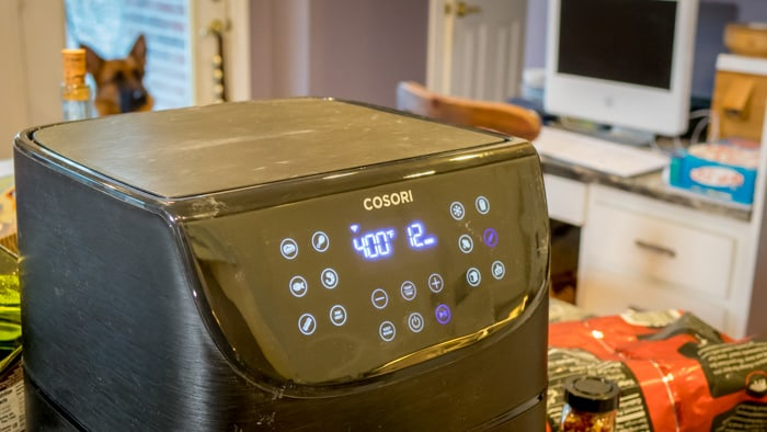Cosori Air Fryer, with Gus the Dog