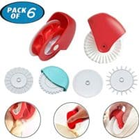 Pastry Wheel Cutter Decorator and Cutter, set of 6