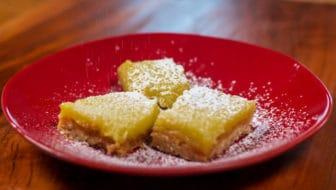 Lovely Meyer Lemon Bars with Olive Oil and Sea Salt