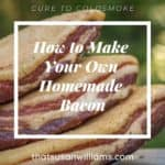 How to Make Your Own Homemade Bacon Pinterest Pin