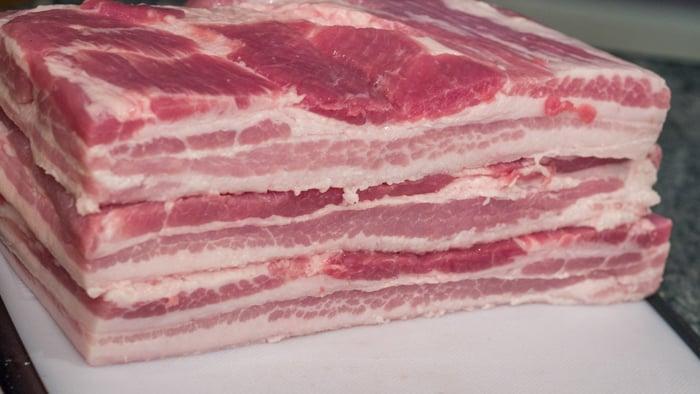 Stacked Slabs of Pork Belly