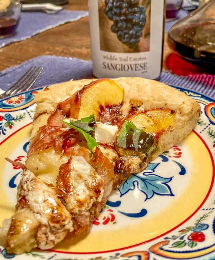 Pizza Slice and Sangiovese