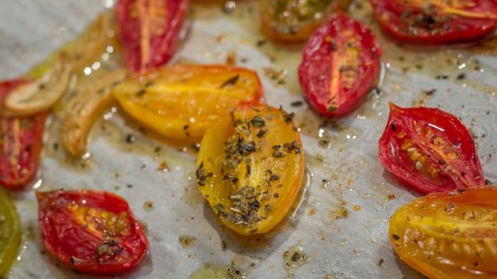 Roasted Grape Tomatoes with Italian Seasoning