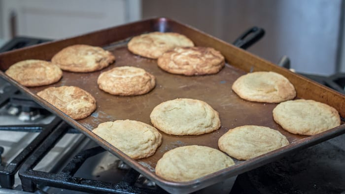 My Old Fashioned Snicker Doodles, fresh from the oven.