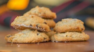 Salty-Sweet Peanut Butter Chocolate Chip Shortbread Cookies