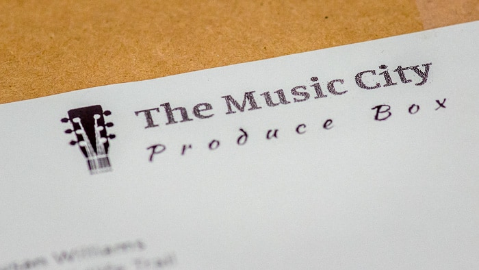 How my Music City Produce Box appeared upon delivery.