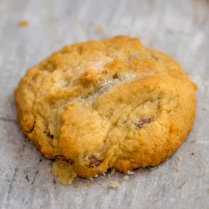 The beautiful Salty-Sweet Peanut Butter Chocolate Chip Shortbread Cookie.