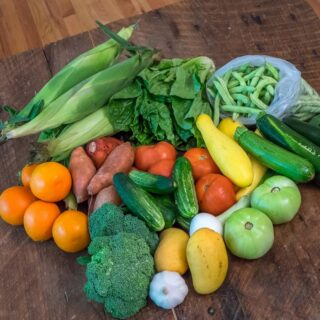 Included in my XL produce box from Music City Produce Box were 14 different varieties of fruits and vegetables!