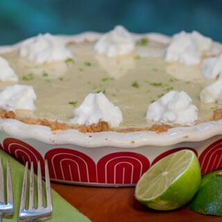 Key Lime Pie with shortbread crust.